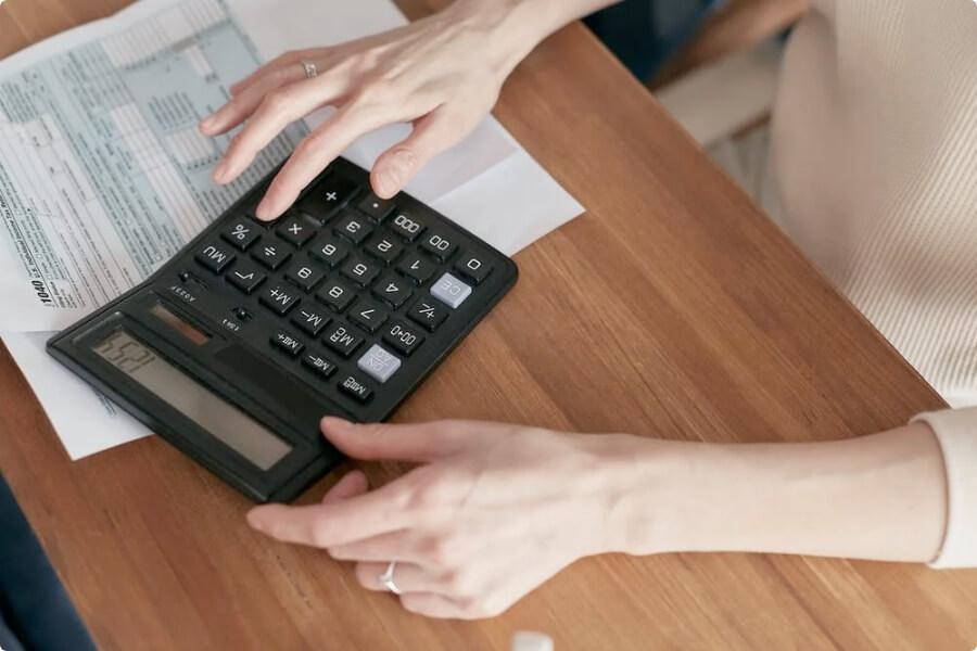 Women calculating medical bills