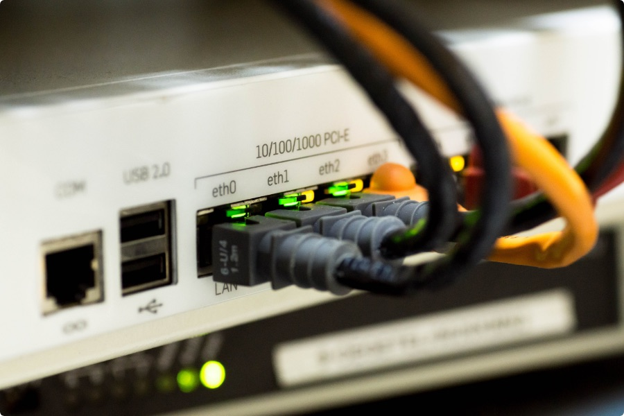 Ethernet cable connecting health care systems